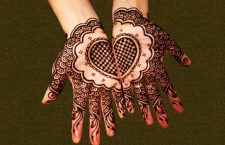 Heart shaped mehndi designs For Women