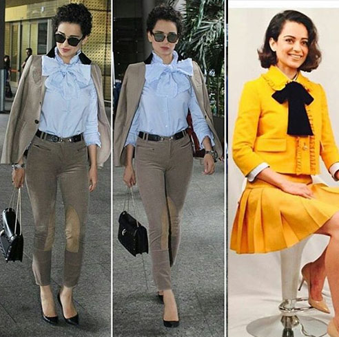 Kangana With Pussy bow trend