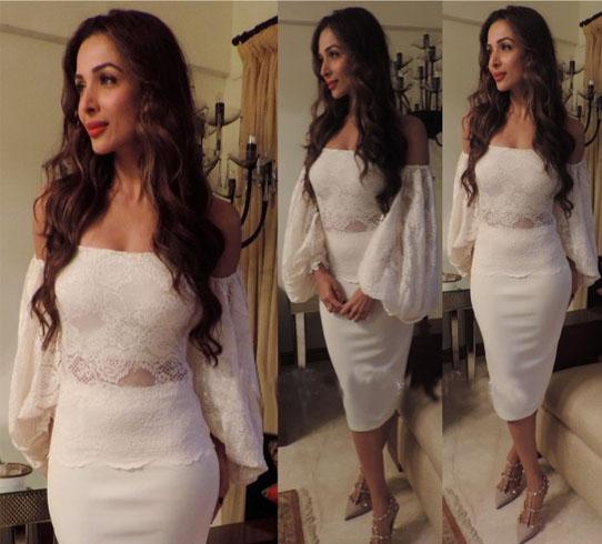 Malaika Arora With off shoulder tops