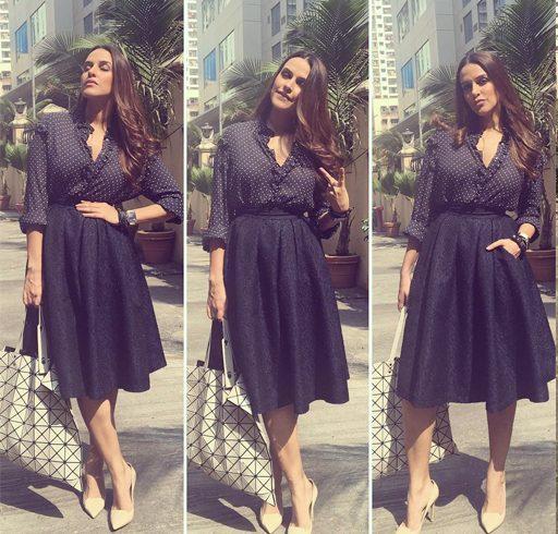Neha Dhupia skirt style