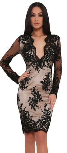 New Year Party Black Dress For Women
