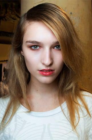 Orange lipstick makeup