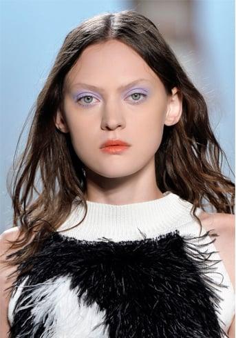 Orange lipstick outfit