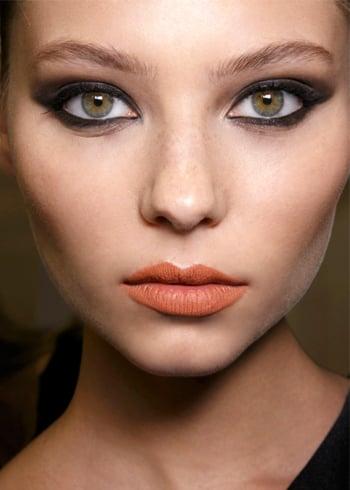 Orange lipstick skin tone