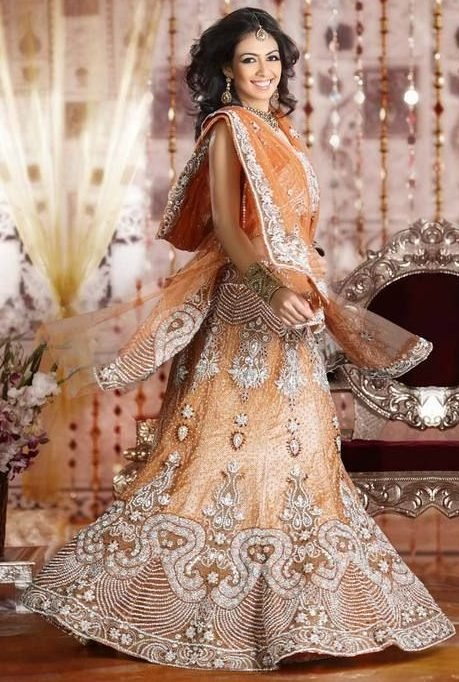 Peach Lehenga For Wedding