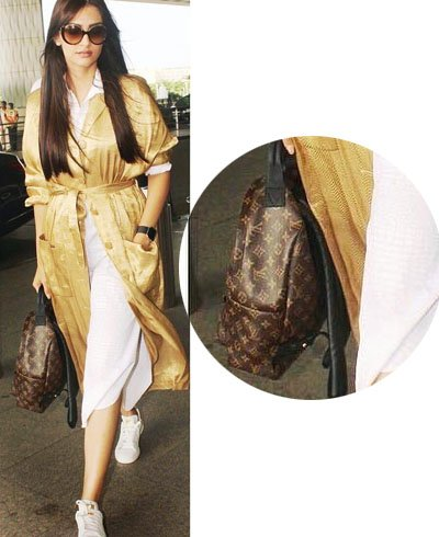 Sonam Kapoor with backpack