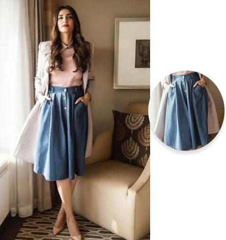Sonam Kapoor in a Bhane skirt