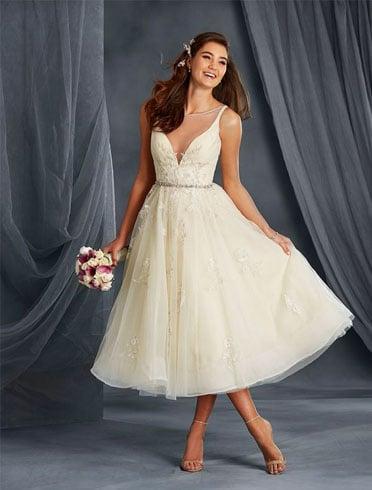 Styling Tips for a Tea Length Wedding Dress