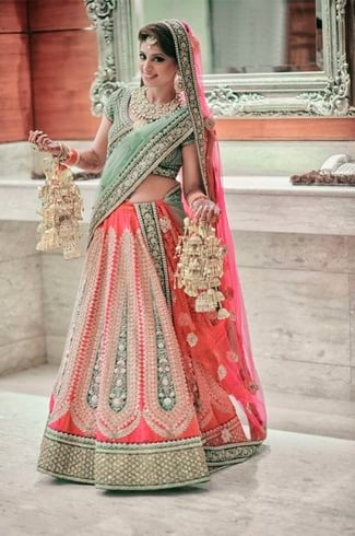 Subtle Pink Lehenga For Wedding