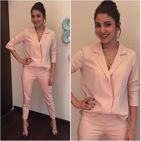 Anushka Sharma Suited Up Style
