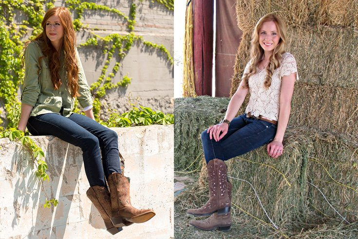 Cowgirl boots with jeans for women