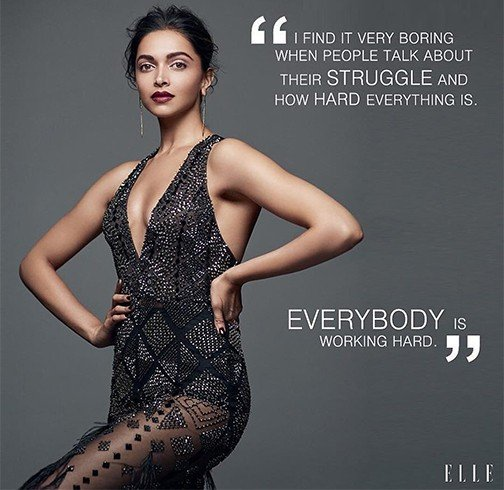 Deepika Padukone On Elle Magazine