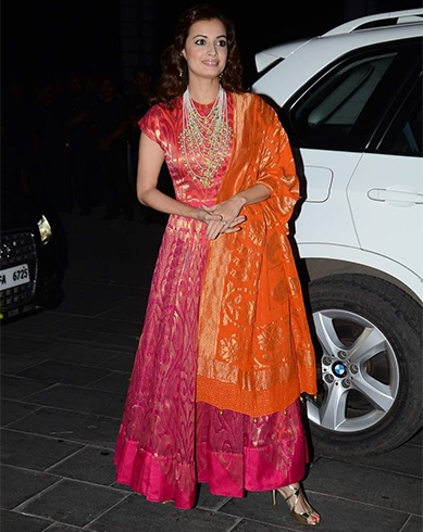 Dia Mirza in Anitha Dongre