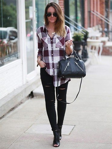 Flannel Shirt with Leggings