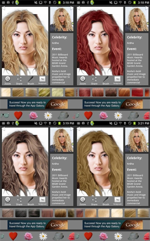 Virtual Hair Color Changer App