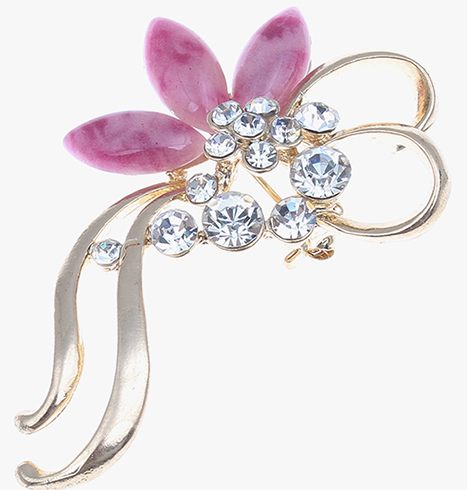 A pink color brooch for the elegant lady
