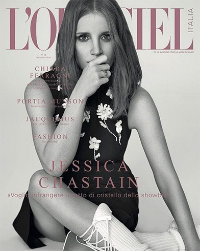 Jessica Chastain On LOfficiel Italia