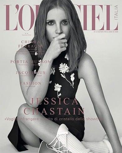 Jessica Chastain On LOfficiel Italia