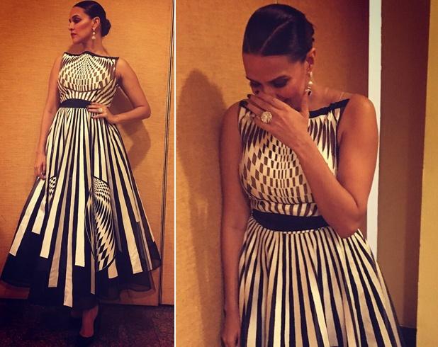 Neha Dhupia Monochrome Fashion