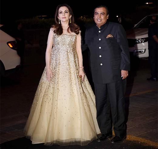 Nita and Mukesh Ambani