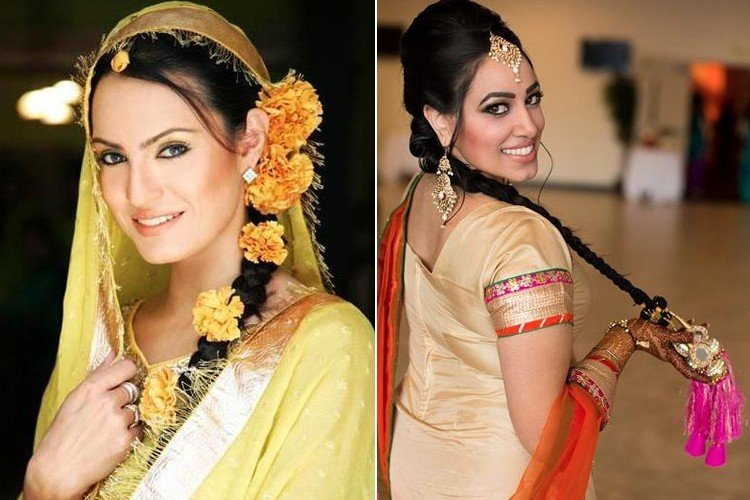 Mehndi Hairstyles With Paranda : The craze for punjabi hairstyle is never ending