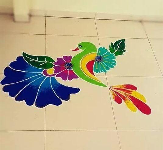 Rangoli Designs For New Year