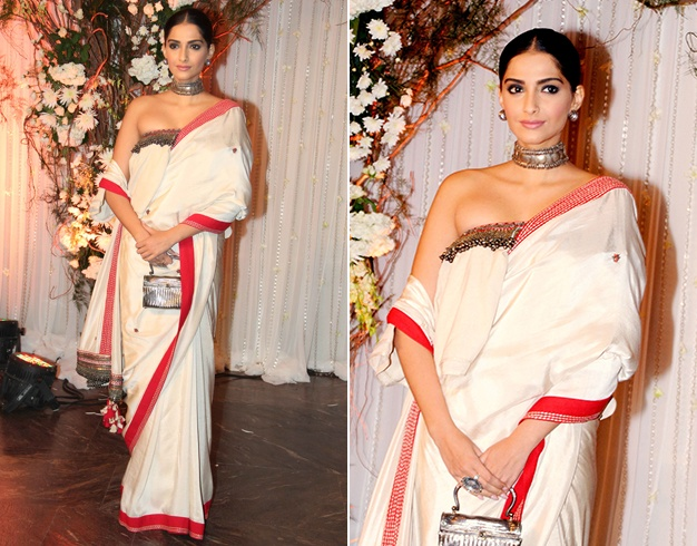 sonam at Bipasha Basu's Wedding Reception
