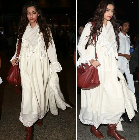 sonam-kapoor At the Airport