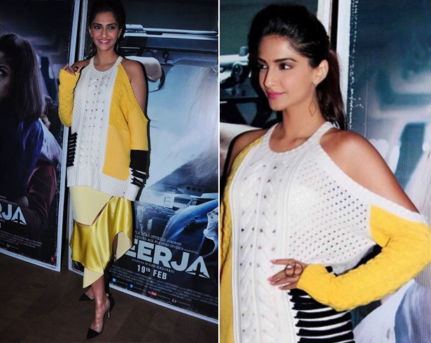 Sonam Kapoor at Neerja Promotions