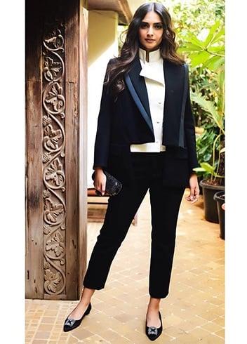 Sonam Kapoor Monochrome Fashion