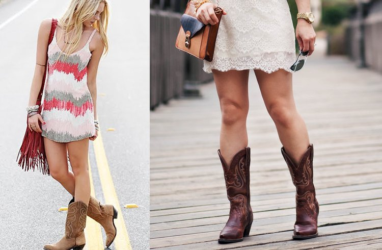 Summer dresses with cowgirl boots