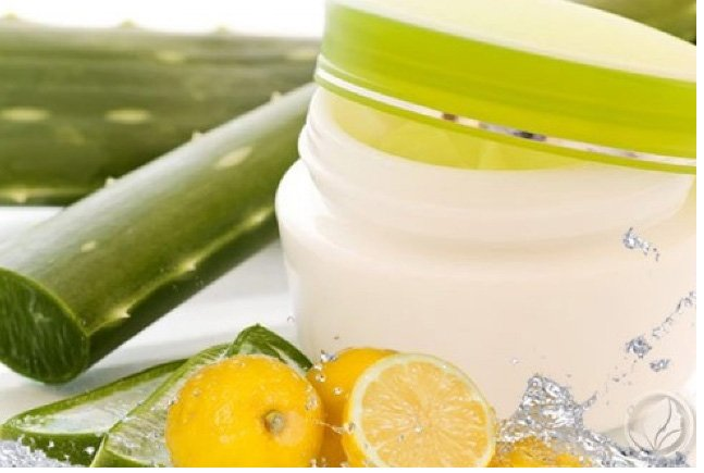 Aloe vera and lemon juice overnight