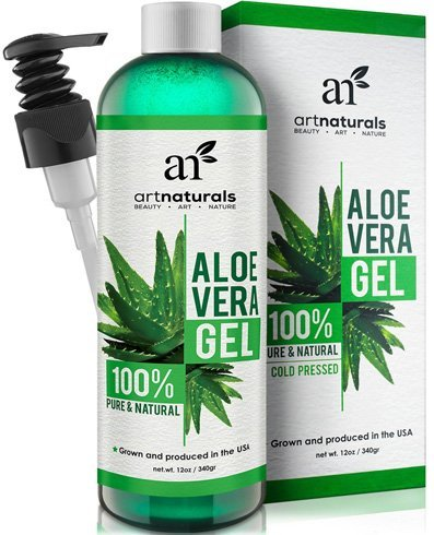 Art Naturals Aloe Vera Gel for Face, Hair & Body - 12 Oz Organic