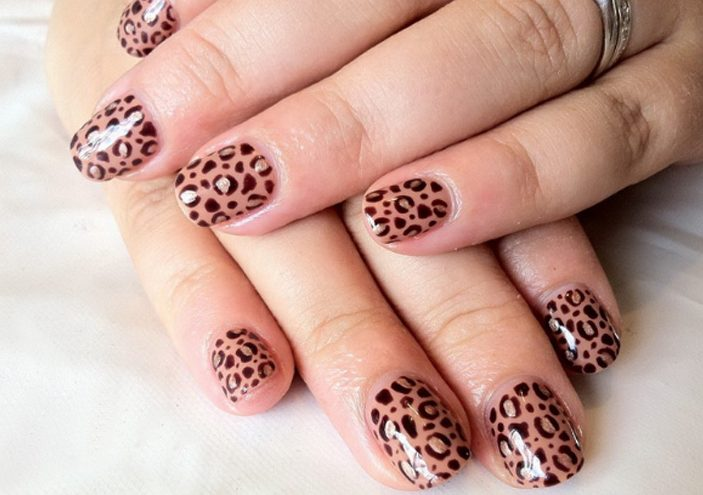 Cheetah Nail Art for Girl