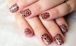 Cheetah Nail Art for women
