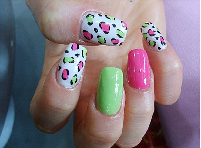 Cheetah nail art with other forms of nail art - Cheetah Print Nails For The Woman Of Fiery Personality
