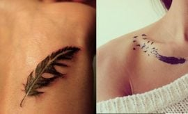 Feather tattoo for women