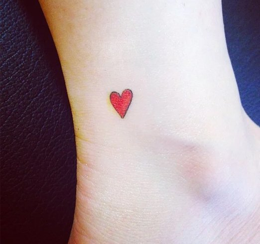 Geart shaped tattoos for girl