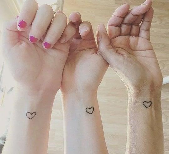 Heart design tattoo for girl