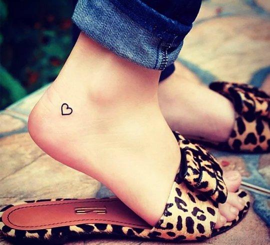 Heart design tattoos for girls
