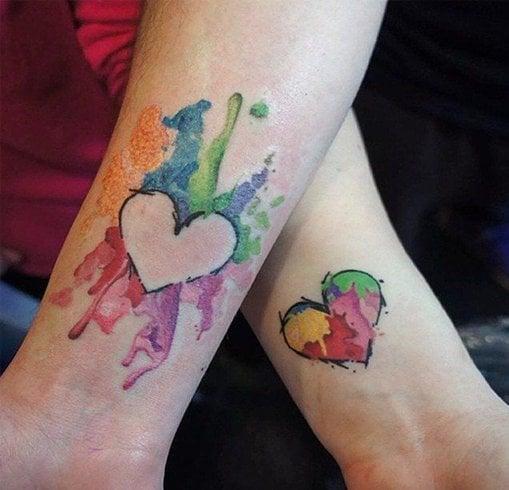 Heart design tattoos