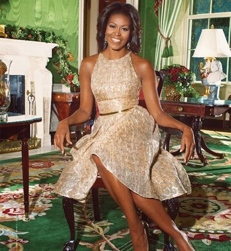 Michelle obama beautiful dress dress