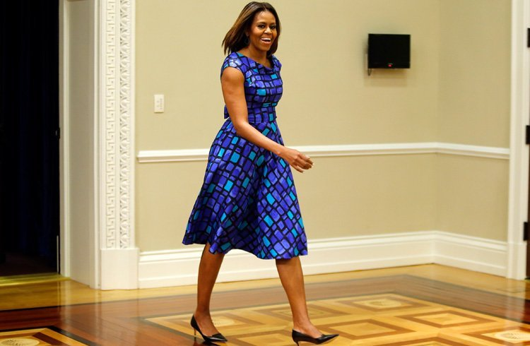 Michelle obama blue dress