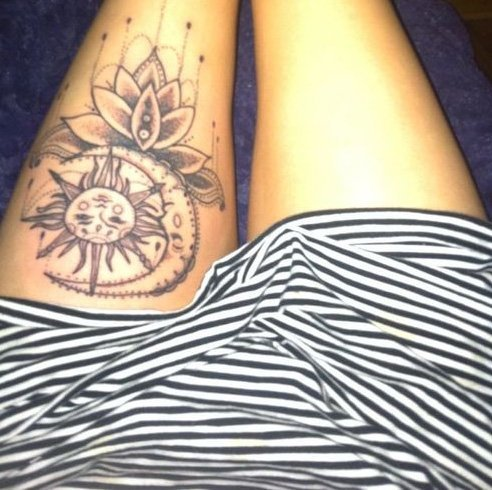 Sun And Moon Tattoo Designs: Get Inked With Something Divine