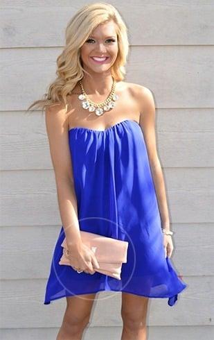 Make Up Fur Blaues Kleid Look Trendy Und Chic Damenmode Mit Stil Trendige