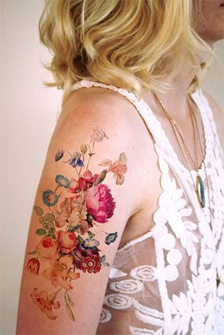 Arm Flower Tattoos