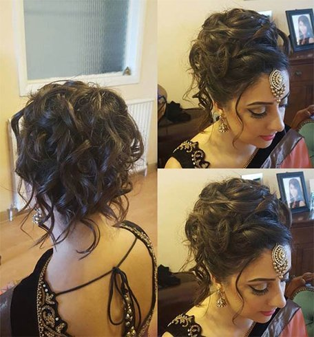 Curly Tendrils Updo