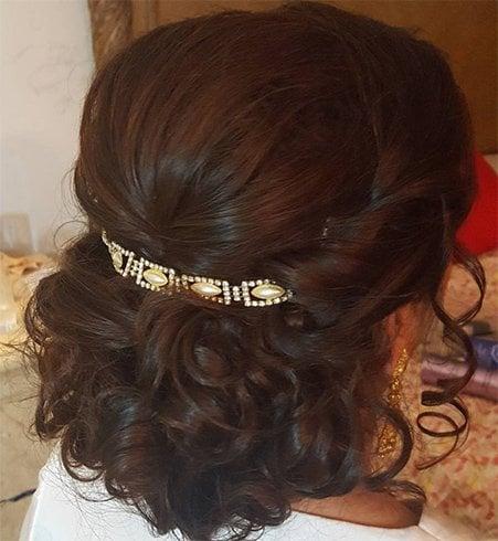 Fancy Clip Curly Bun