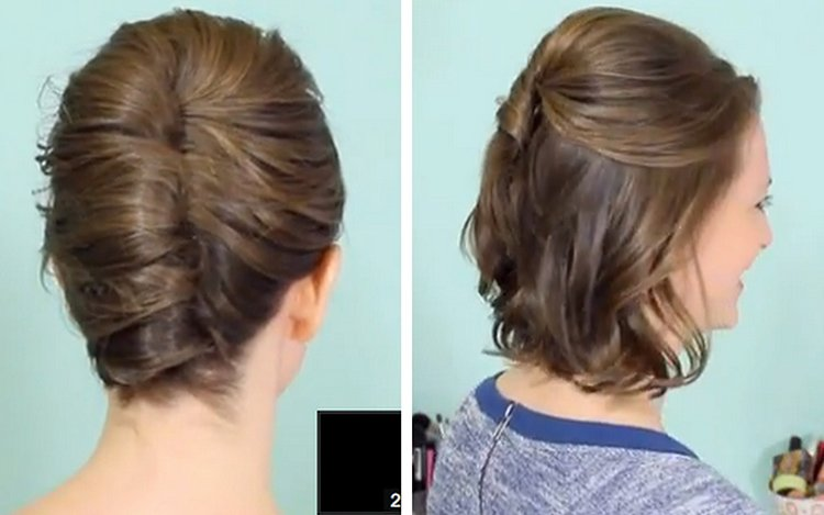 Half Updo for Short Hair