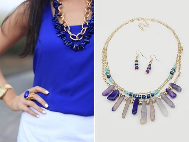 Jewellery for Royal Blue Dress